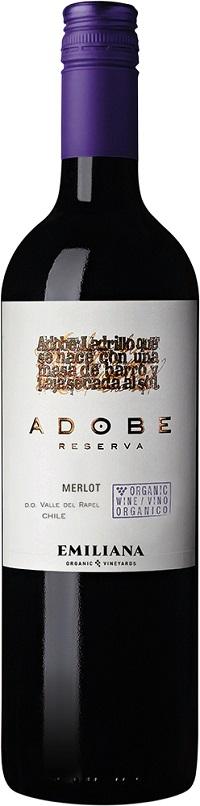 Adobe Reserva Merlot Organic Chile