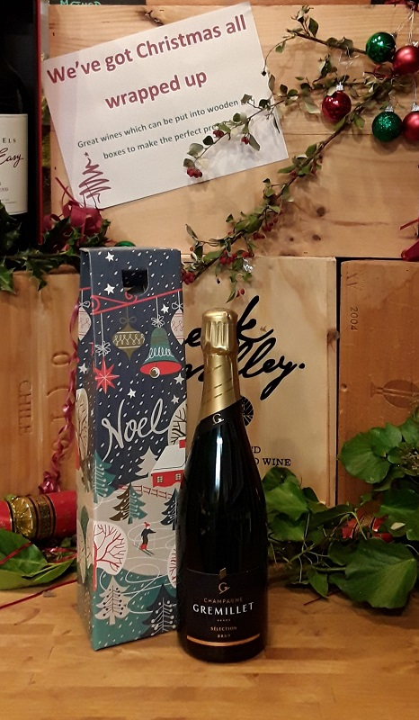 Champagne in a gift box